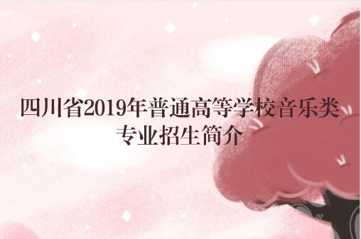 2019年四川省普通高等学校音乐类专业招生简介
