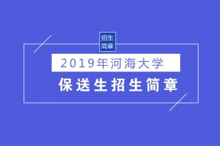 2019河海大学保送生招生简章