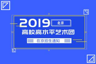 2019高校高水平艺术团在京招生通知
