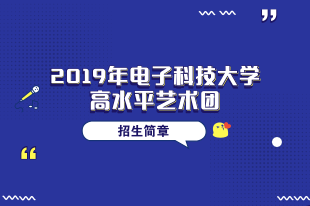 2019电子科技大学高水平艺术团招简