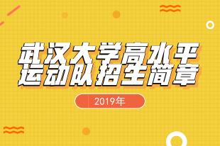 2019武汉大学高水平运动队招简