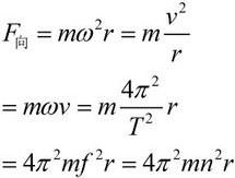 高中物理常考十大公式之向心力公式6