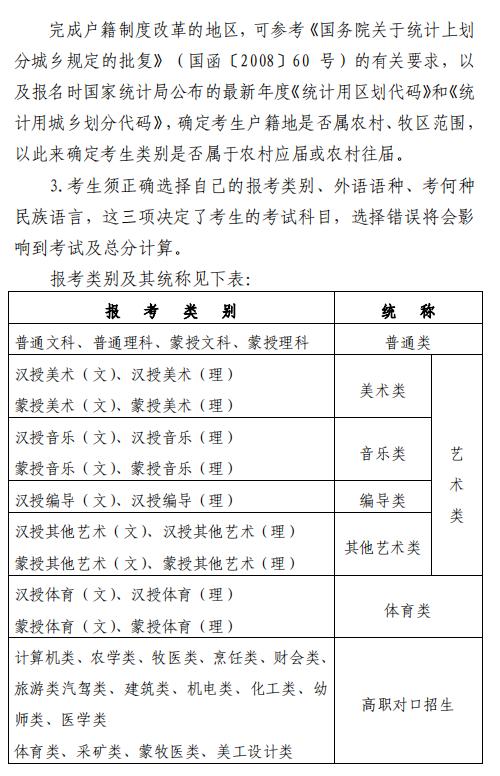 2020年内蒙古普通高校招生报名信息采集办法3