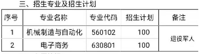 河北劳动关系职业学院2019年高职扩招第二阶段专项考试招生专业及招生计划
