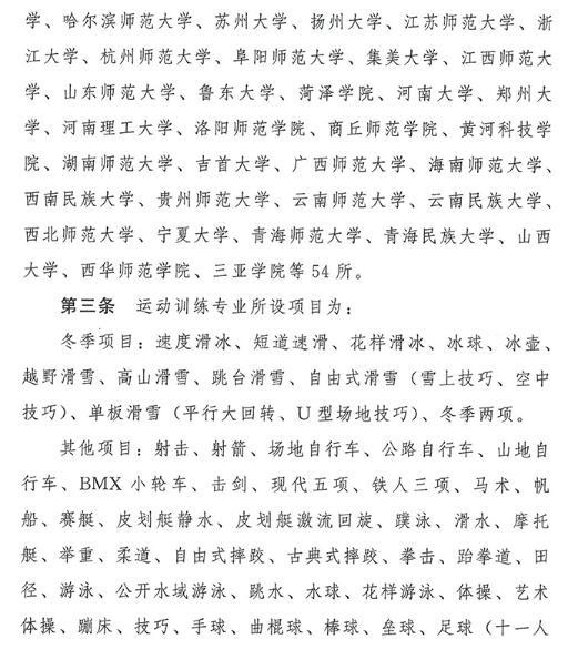 2020年普通高等�W校�\�佑��、武�g�c民族�鹘y�w育��I招生院校(��I)及�目4