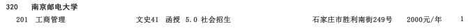 2019年南京邮电大学高中起点升本科河北省招生生源计划2