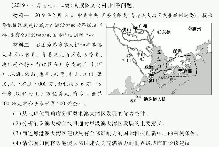 2020年春晚高考地理考點:粵港澳大灣區1