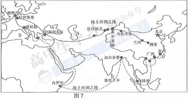 2020年春晚高考地理考点:一带一路(区域地理、沿线各国的地理特征及产业优势区位)7
