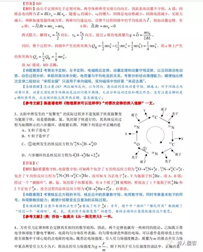 2020高中物理高考重难点题突破解析及记错提醒2