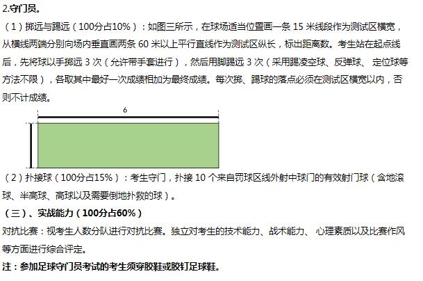 2020年江西科技师范大学招收高水平运动员专业专项测试大纲2