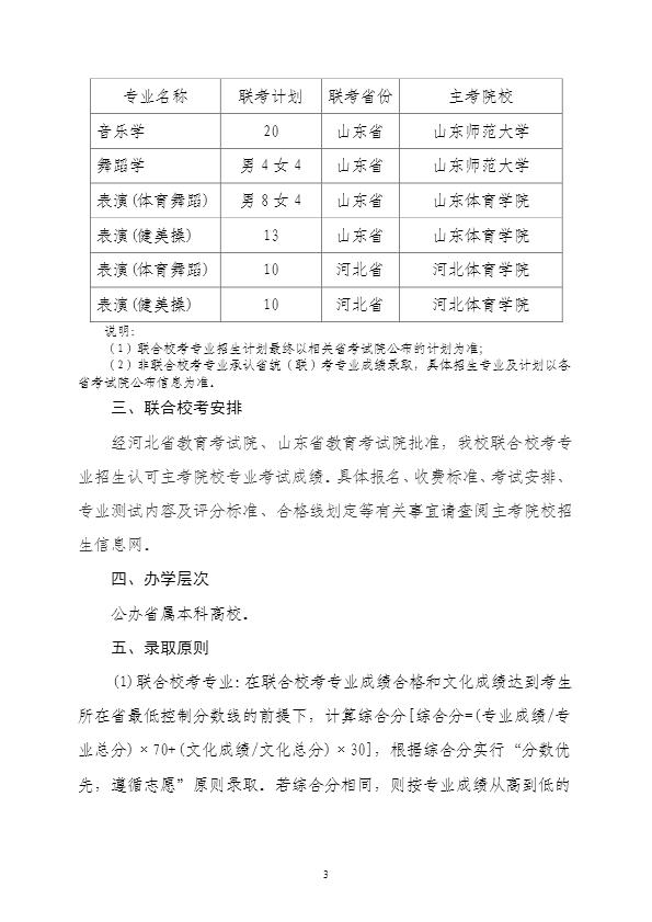 2020年赣南师范大学艺术类专业招生简章3