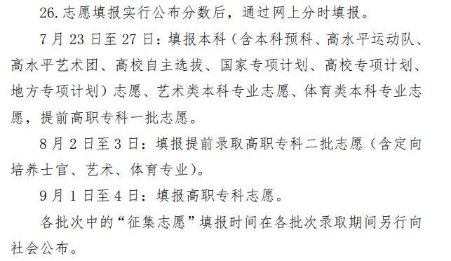2020年宁夏高考志愿填报时间公布
