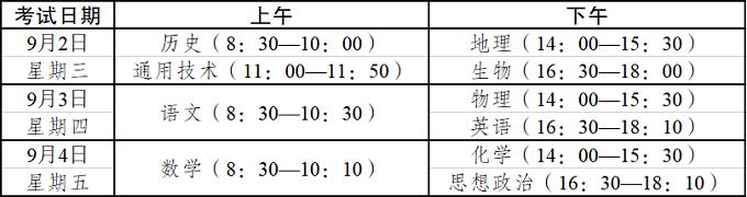 2020年云南春季学期末高中学业水平考试时间安排
