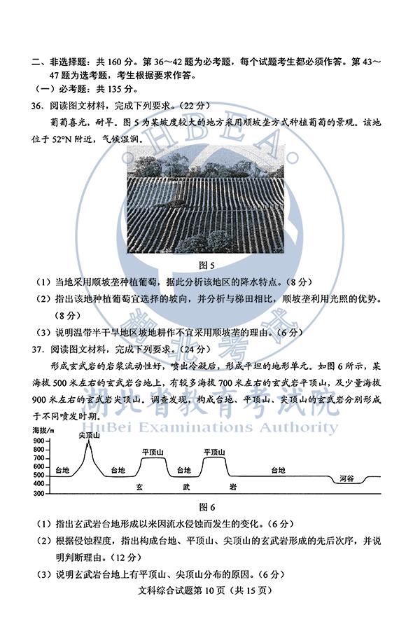 2020年安徽高考文综试题(图片版)10