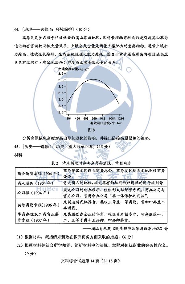 2020年安徽高考文综试题(图片版)14