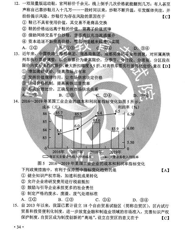 2020年全��II卷高考政治��}(�D片版)1