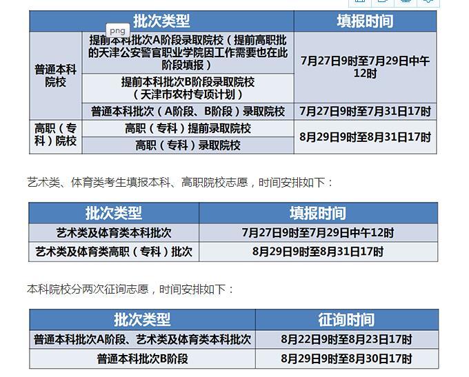 2020年天津高考考生志愿填报即将开始