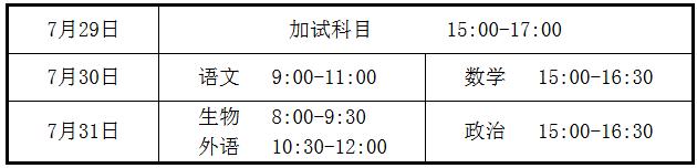 2020年甘肃夏季普通高中学业水平考试温馨提示