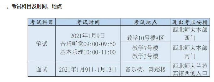 2021年甘�C普通高校招生音��W���I�y一考�指南