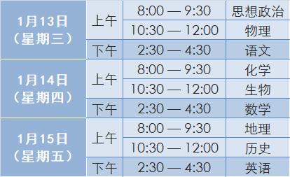 2021年北京高中第一次合格考1月13日�_考