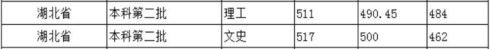 北京城市学院2020年湖北普通类录取分数线2