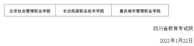 2021年四川高职单招在川招生高校名单公布