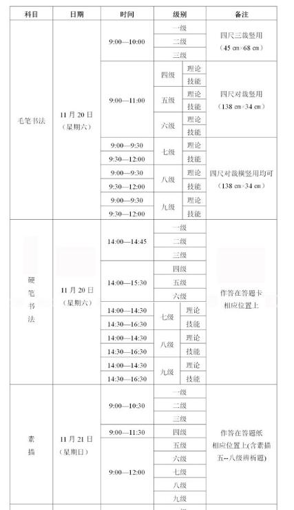 2021年下半年四川省书画等级考试报考通告2